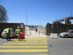 Acceso de peatones a la nueva Estación de las Metas