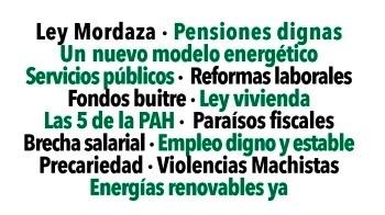 24 de octubre: movilización general en España para recuperar la dignidad