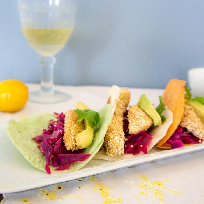 receta de tacos de pescado con amaranto