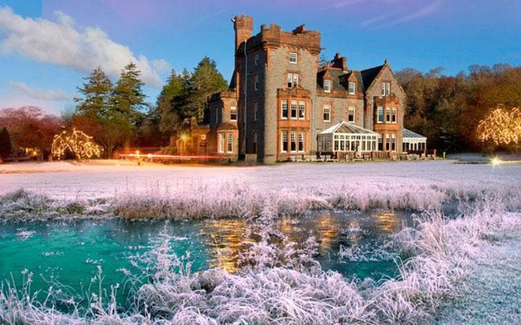 Isle of eriska, escocia, hotel de navidad