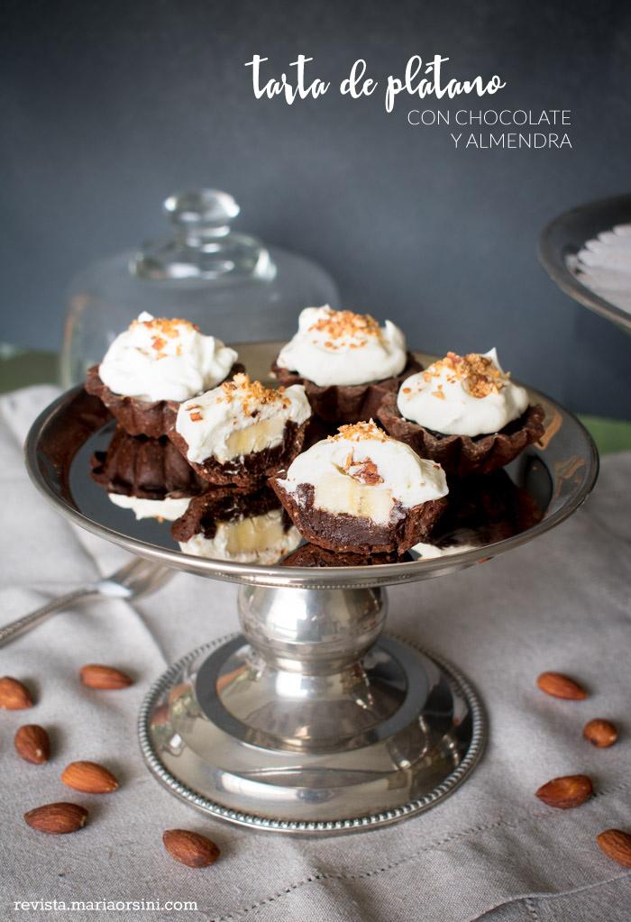 receta de tarta de platano y chocolate