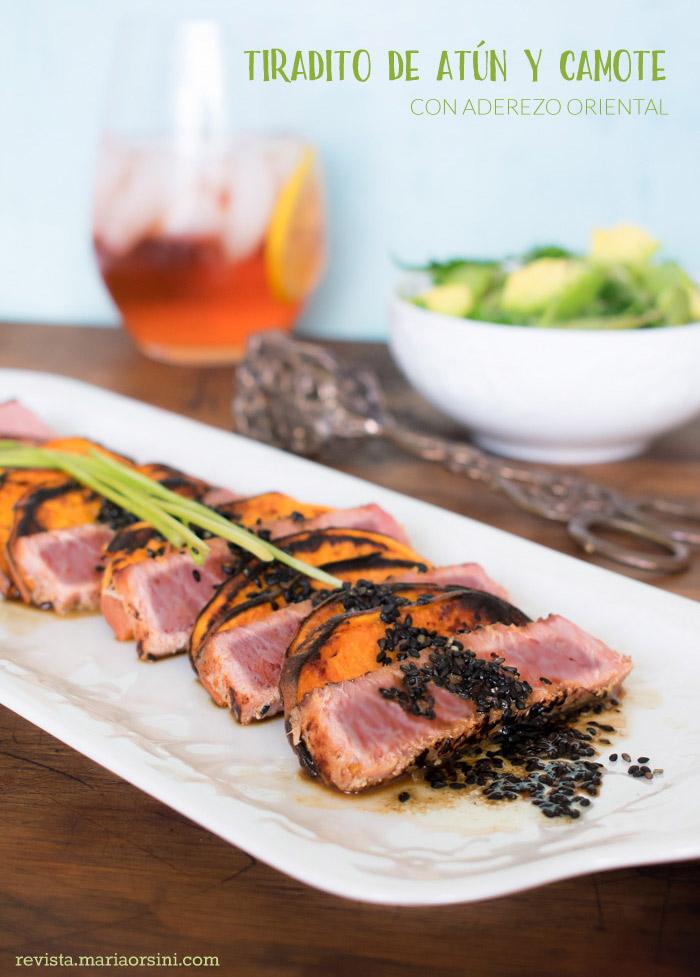 receta de tiradito de atún y camote