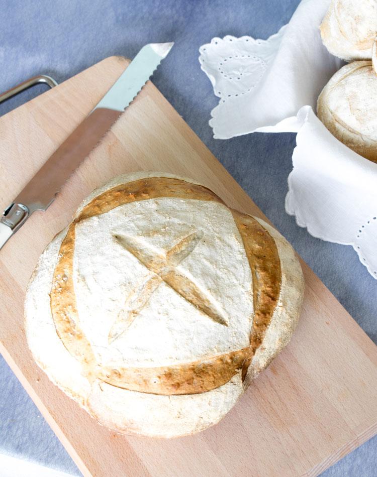 Receta de pan campesino