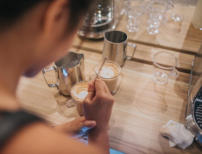 arte en espuma de café