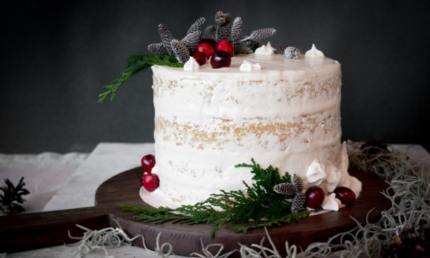 Naked cake de Navidad