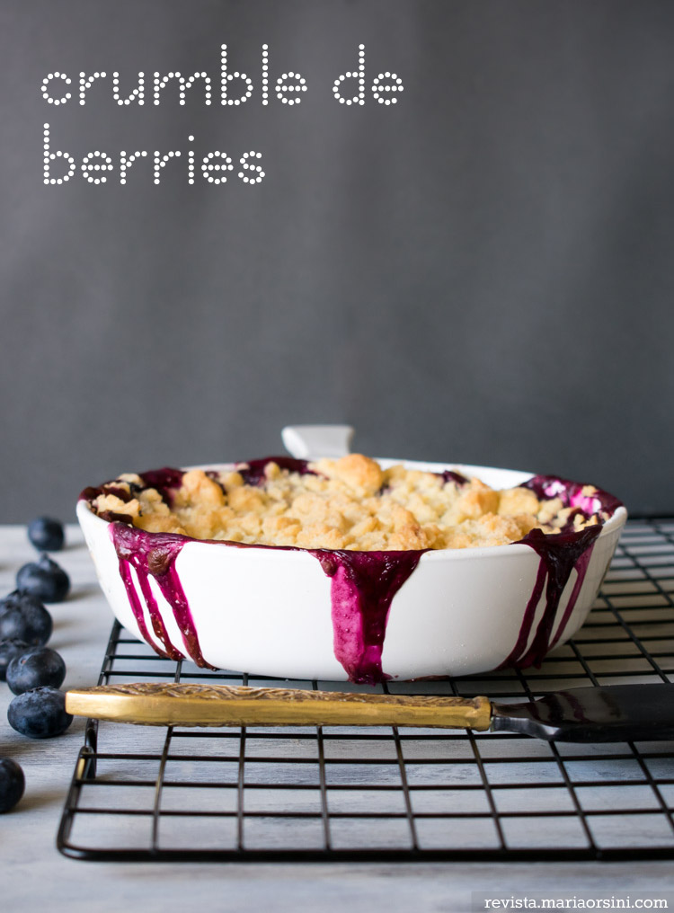 receta de crumble de berries