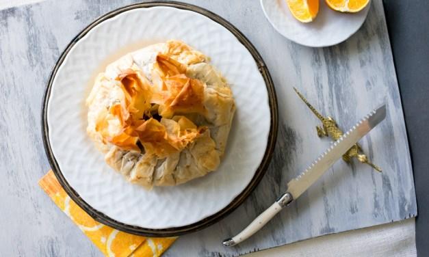 Queso brie al horno con mermelada picante de naranja