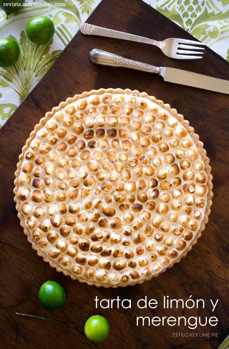 Receta de tarta de limón con merengue italiano en revista maria orsini