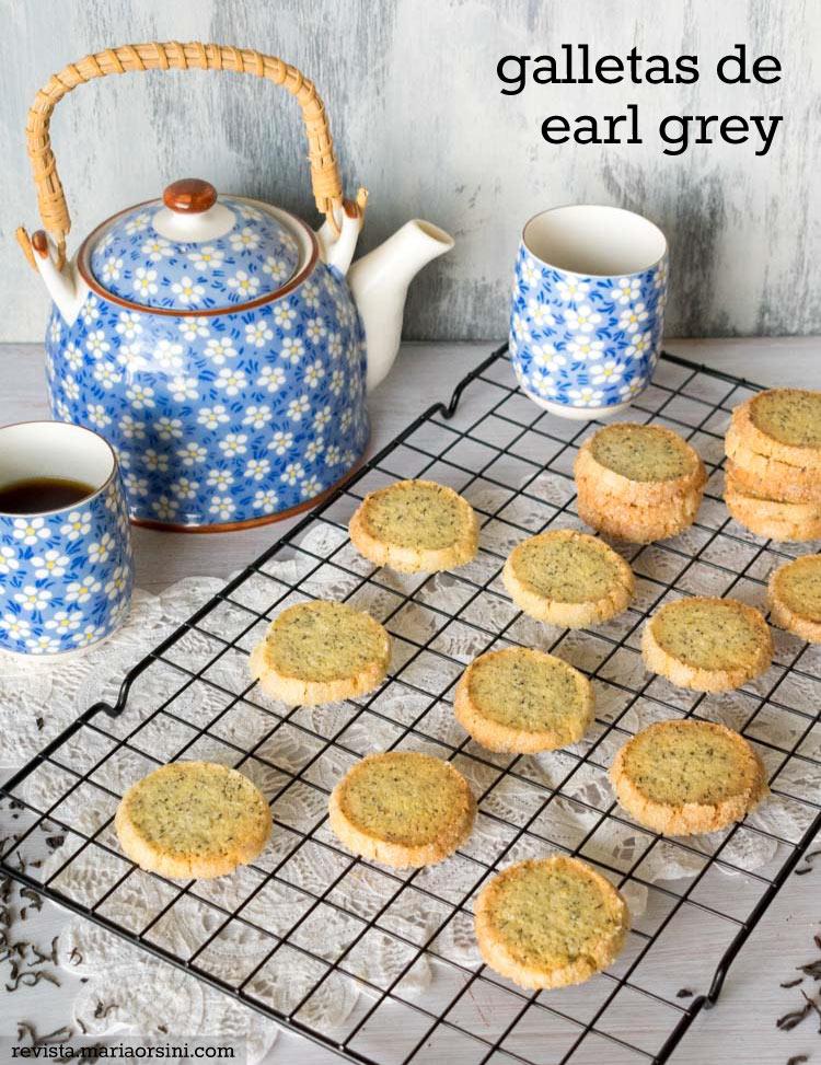 Galletas de te earl grey, receta en revista Maria Orsini