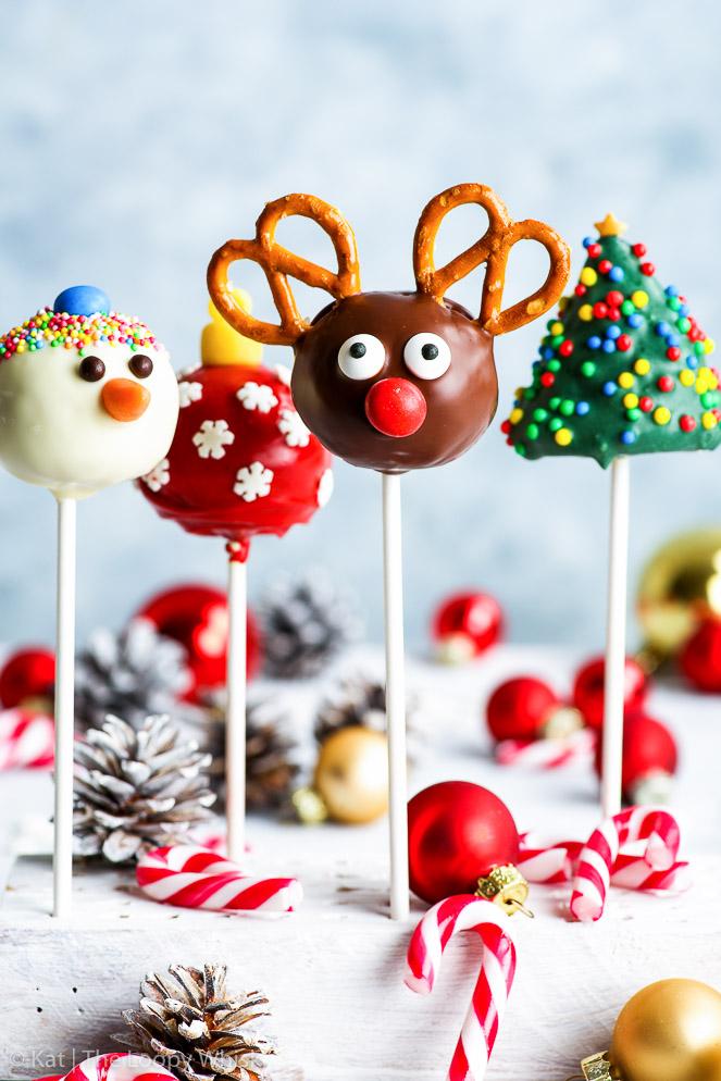 postres navideños, cake pops
