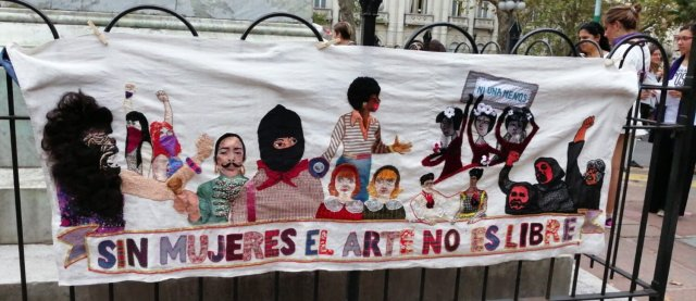 Colectiva La Sindicata. Sin mujeres el arte no es libre - La Sindicata Collective. Without women, art is not free
