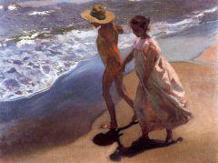 Ilustración 1: Al agua, 1908 Óleo sobre lienzo 81 x 106 cm. Colección Bancaja
