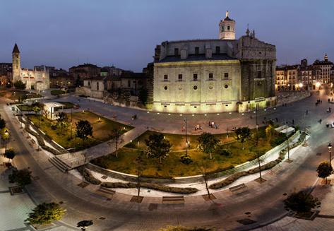 La Antigua Catedral. Plaza Portugalete y alrededores. Valladolid
