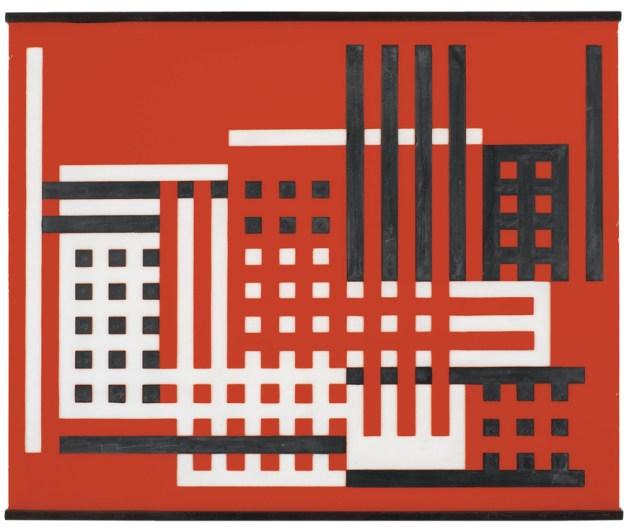 Fábrica (25/2b), 1925. Josef Albers Vidrio esmerilado y pintura negra. 27,9 x 35,5 cm. © The Josef & Anni Albers Foundation. Fotos cedidas por la Fundación Juan March