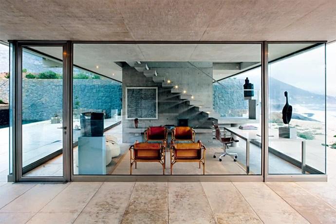 View of the studio glass volume