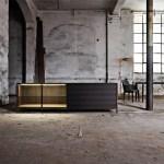 Eucalyptus, mesa auxiliar por la firma de diseño alemán , Molteni. Invitados al IMM Cologne, 2015.