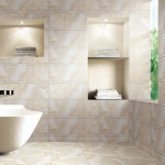Cerámica para baño por la marca RAK Ceramics, en el Surface design show-London, 2015.