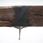 Trenza por Santiago Reyes Villaveces parte de la exposición Contramuro, 2015. Fotografía por Sebastián Cruz.