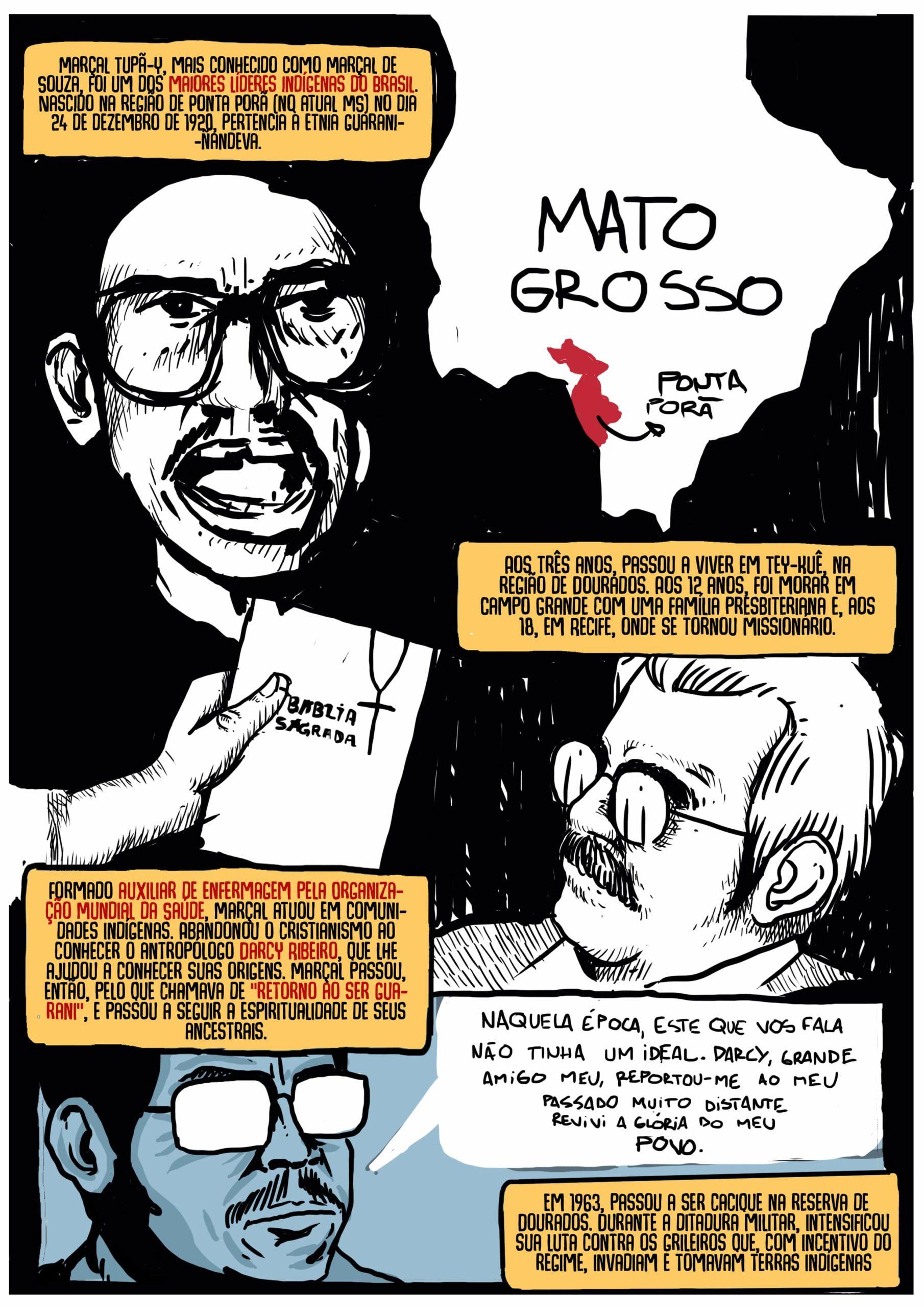 Vida e morte do Cacique Marçal Guarani por Fábio Faria e Norberto Liberator - Revista Badaró