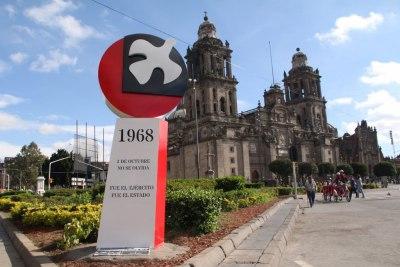 Anti monumento por los 50 años sin culpables del 2 de ocubre de 1968