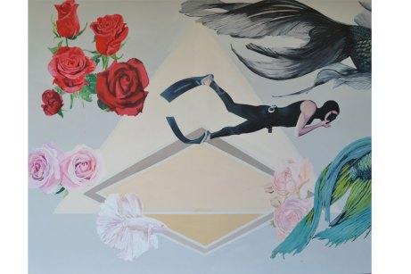 Agua de rosas - 2015 Tec Acrilico sobre tela 140 cm x 120 cm