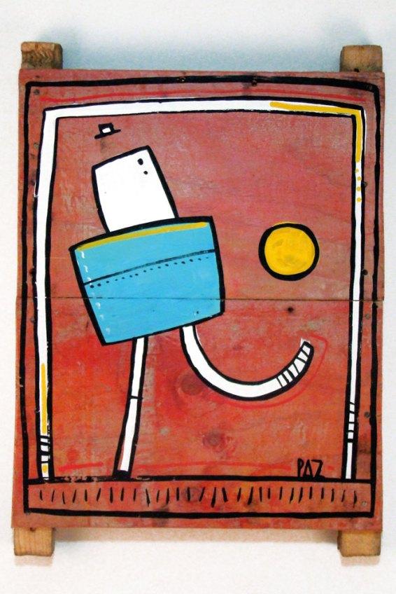 """FULBITO"" año 2015 - Acrílico sobre madera - 30 x 45 cm"
