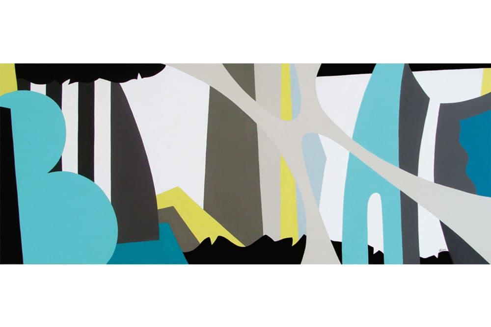 Dialogo 18  Acrílico sobre canvas - 60 x 150 cm