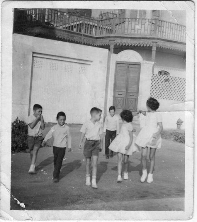 De izq. a derecha: Cato, Francesco, Oscar, Calidro, Carina, Carla, Chucuito 1965