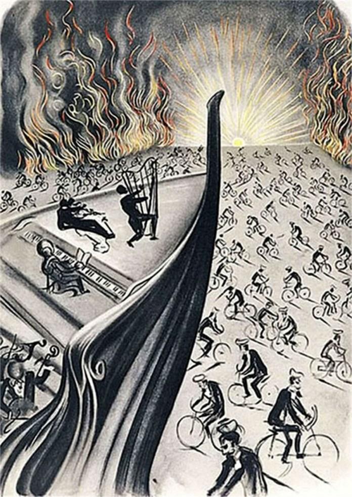 'Bicyclette Symphony' (Salvador Dalí, 1970)