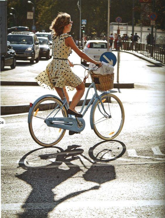 look bicicleta com estilo