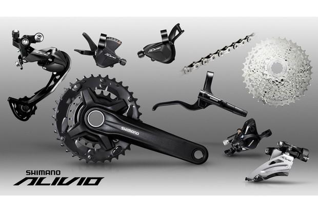 Grupos de bicicletas Shimano Alivio