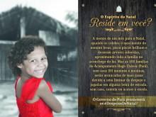 Já pensou ter dia e hora marcados para sair à força de sua casa? Faltando alguns dias para o Natal, quando se celebra o nascimento do menino Jesus, pisca-piscas brilham e decoram árvores coloridas, aproximando toda a família no aconchego do lar. Mas as 300 famílias do Acampamento Hugo Chávez, no Pará, com seus 150 meninos e meninas, serão arrancadas de suas casas devido a uma liminar de despejo e jogadas em alguma beira de estrada, sem casa, comida ou acesso à escola.