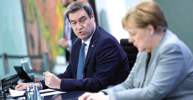Angela Merkel y Marcus Söder