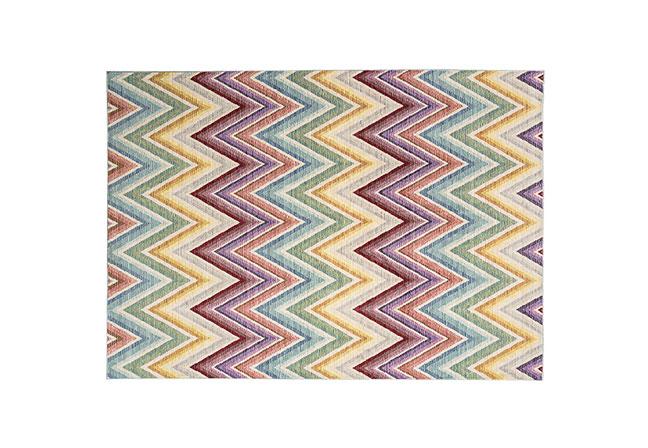 AUDENZA | Ideal para pontuar cor no ambiente, o tapete Zigazig Ah dispõe de estampa colorida que carrega o feeling da estação. Em poliéster, apresenta um brilho sutil e propriedades resistentes a manchas