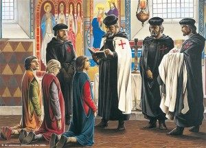 La caída de los templarios. Ceremonia Templaria de admisión