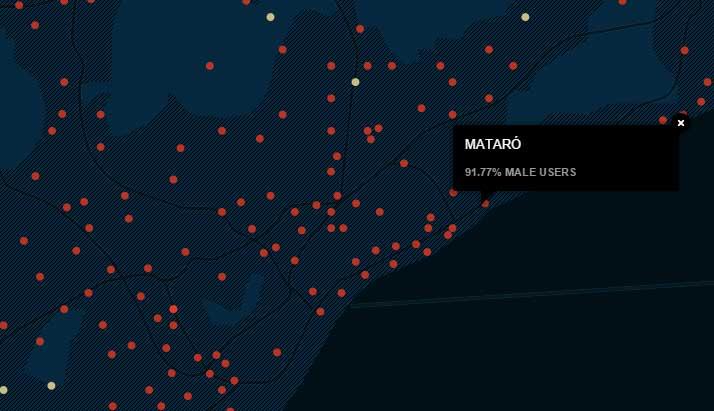 El mapa elaborado con los usuarios de la web