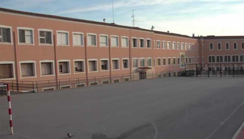 Vista parcial del colegio de los Salesianos en Mataró