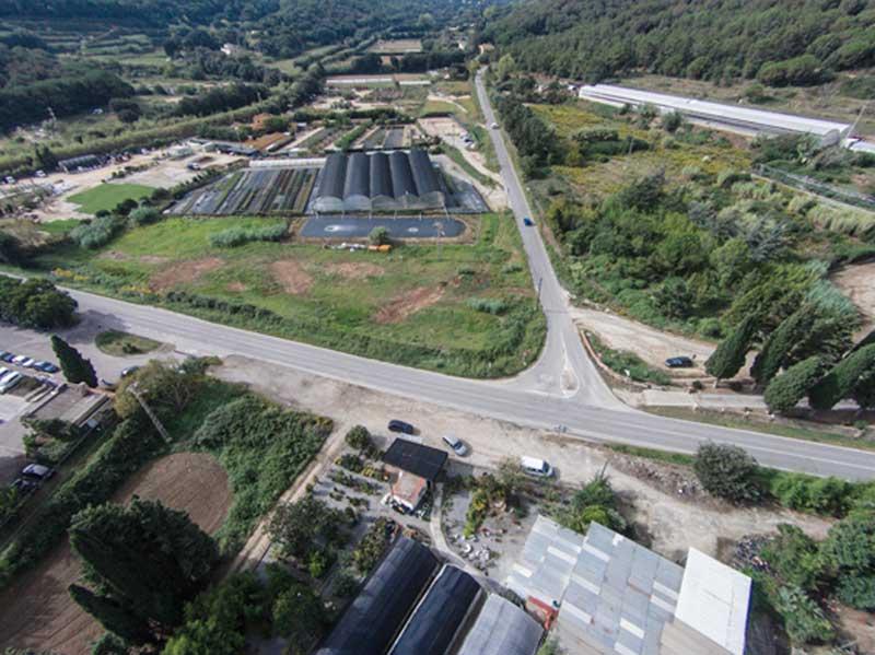 Vista aérea del actual cruce. Autor: Diputación