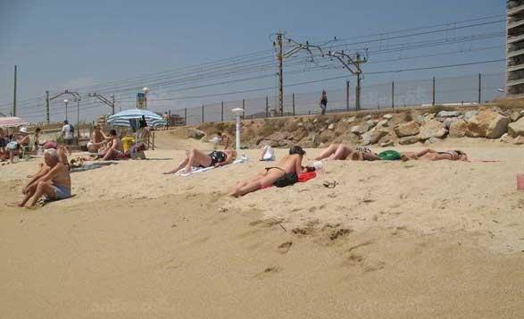Imagen de archivo de la playa de Ponent, en Vilassar de Mar