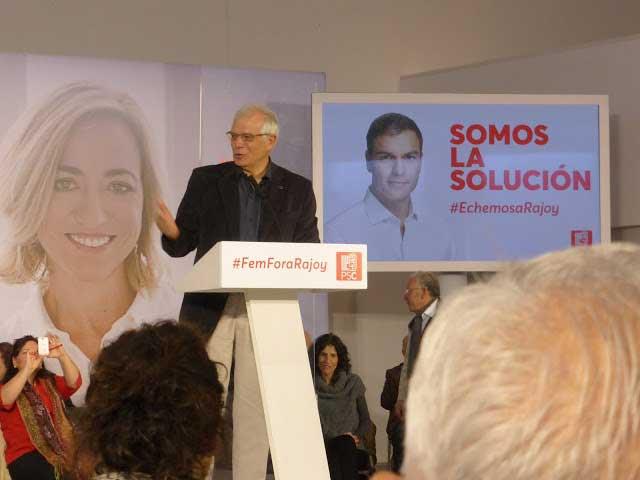 Josep Borrell durante su intervención en Mataró
