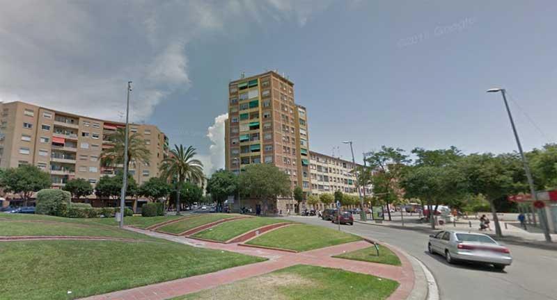 La rotonda de la plaza alcalde Serra