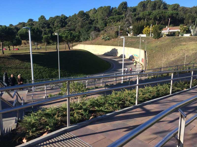 Vista parcial de la pasarela de Can Palomeres, en Malgrat de Mar. Foto: Ajt. de Malgrat