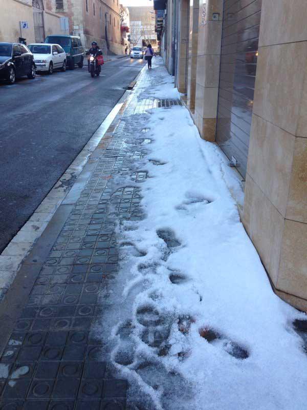 Calles de Mataró este lunes por la mañana