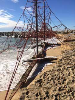 Estado en que ha quedado la playa. Foto: Ajt. de Mataró