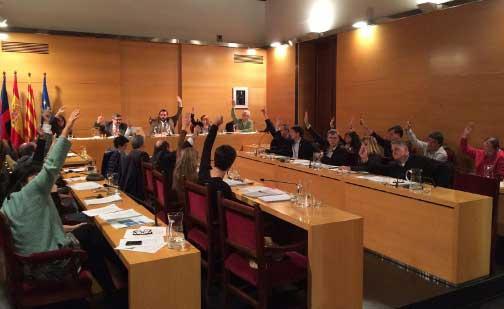 Los regidores aprobaron por unanimidad la moción de PSC, CUP y Volemataró. Foto: Ajt de Mataró