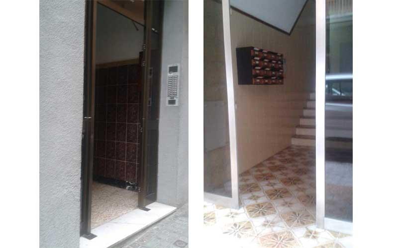 Los vecinos de Rocafonda hicieron fotos de sus edificios sin las puertas. Foto: Rocafondeños por el mundo