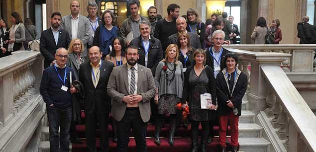 Todos los representantes de Mataró en el Parlament. Foto: Ajt de Mataró