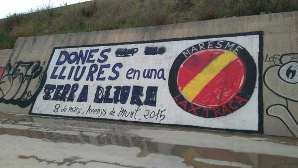 Uno de los murales atacados fue el de Arenys de Munt