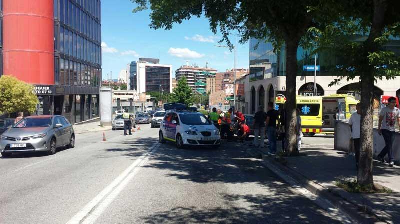 El accidente tuvo lugar en la entrada de Granollers