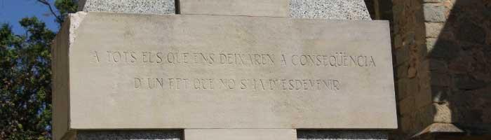 Detalle del monumento. Foto: Argentona.cat